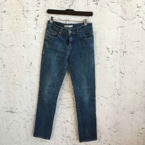 LEVIS MID RISE SKINNY JEANS 8M